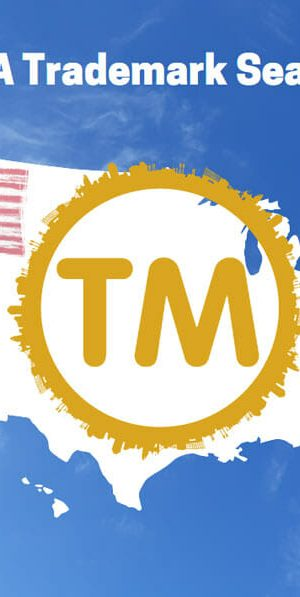 US flag on map of USA with a TM logo